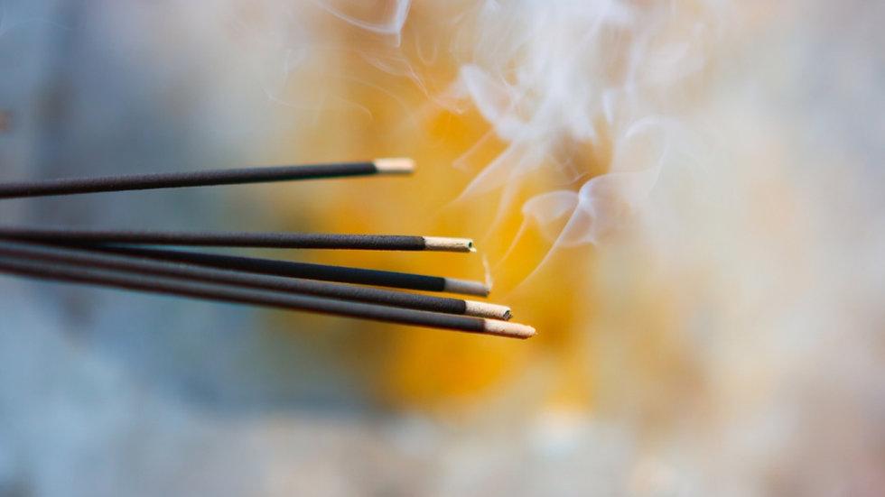 """5pk Handmade Reiki Infused 10"""" Incense Sticks"""