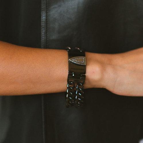 Black ID Bracelet