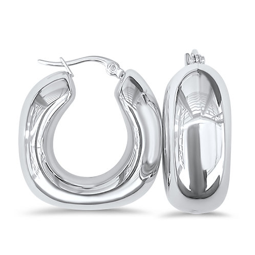 Hollow square hoops 1 inch