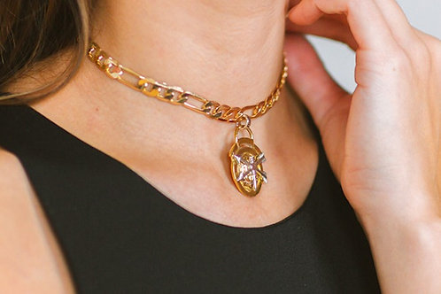 Vintage Inspired Choker Pendant Necklace