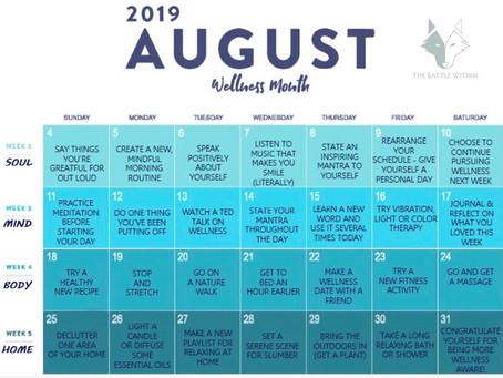 August = National Wellness Month