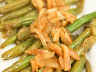 Sautéed Almonds & Green Beans