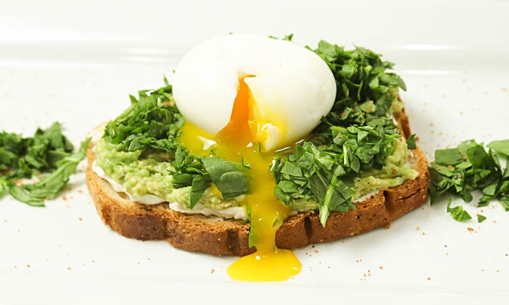 Soft Egg and Greens on Gluten Free Bread