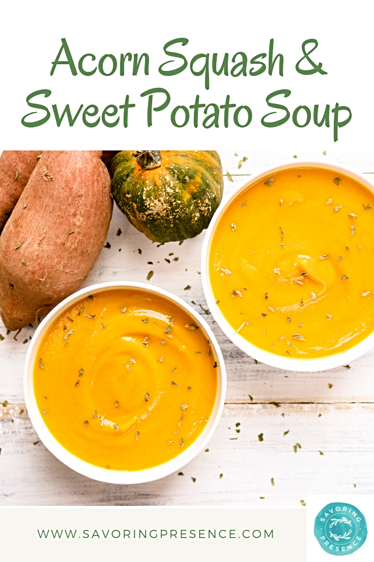 Pintrest Acorn Squash and Sweet Potato Soup