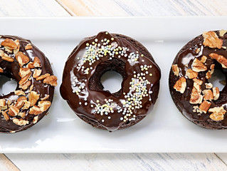GF/DF Chocolate Cake Donuts with Chocolate Glaze