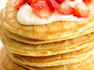 Coconut Oat Protein Pancakes