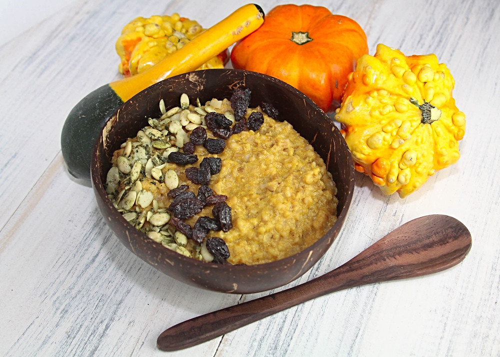 Pumpkin Nog Steel Cut Oats