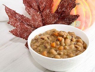 Creamy Black Eyed Peas and Carrots