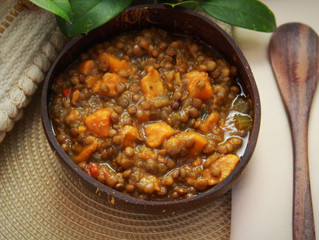 Sweet Potatoes and Lentils