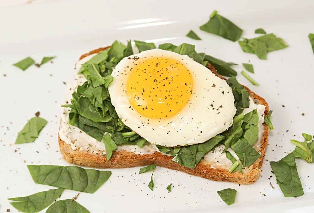 Sunny Side Up Egg on Gluten Free Toast