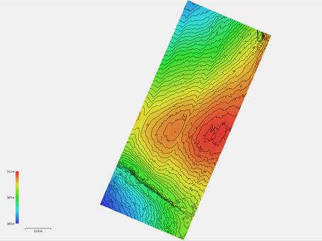 Ψηφιακά μοντέλα εδάφους υψηλής ακρίβειας για υπολογισμό υψομέτρων, όγκων και κλίσεων, με χρήση Drone