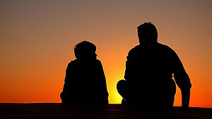 silhouette_father_and_son_sundown_chat_a