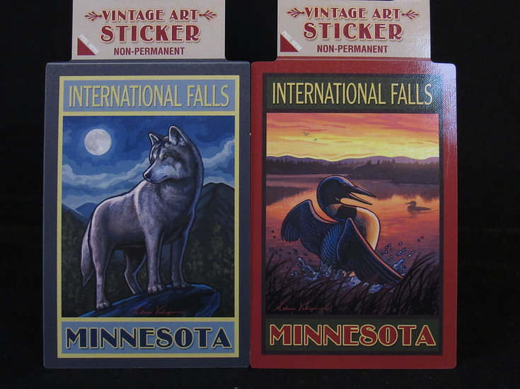 Vintage International Falls Sticker