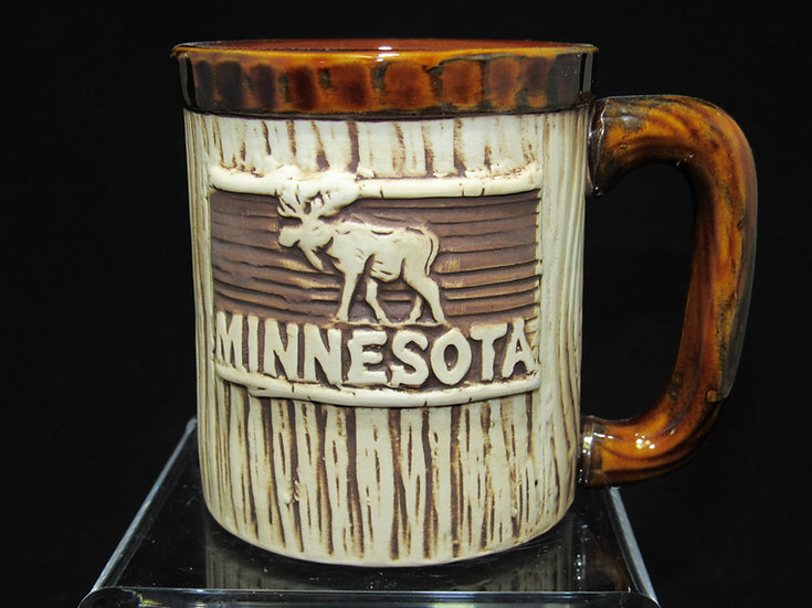 MN Rustic Look Moose Mug