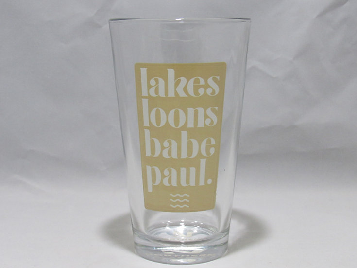 Lakes, Loons, Babe, Paul Glassware