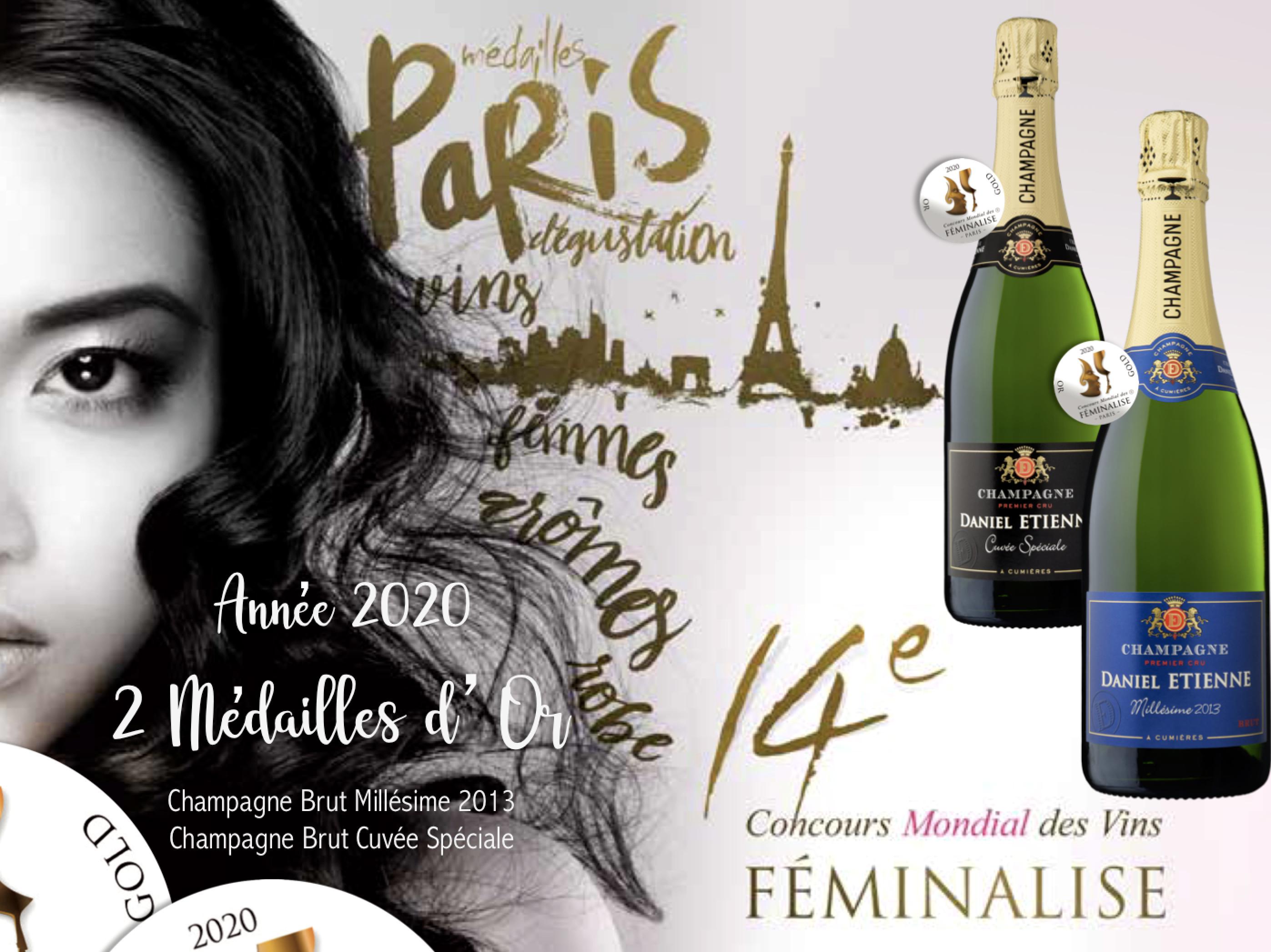 MEDAILLES FEMINALISE 2020 OR