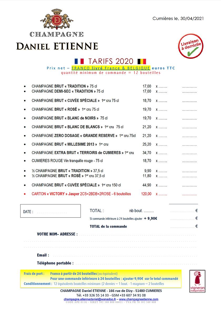TARIFS LIVRES BELGIQUE + CARTON VICTORY