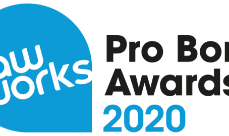 Nominations open - LawWorks Pro Bono Awards!
