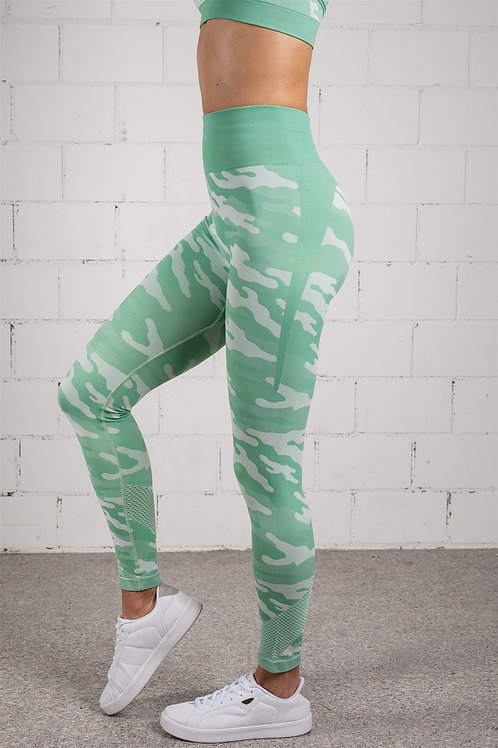 RAINBOW CAMO Matcha-Latte Green (LEGGINS)