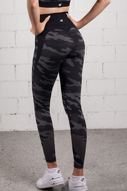 RAINBOW CAMO Dimgrey Black (LEGGINS)