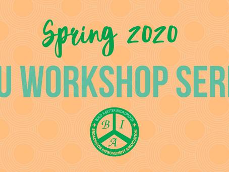 Spring CEU Workshops at the BIA
