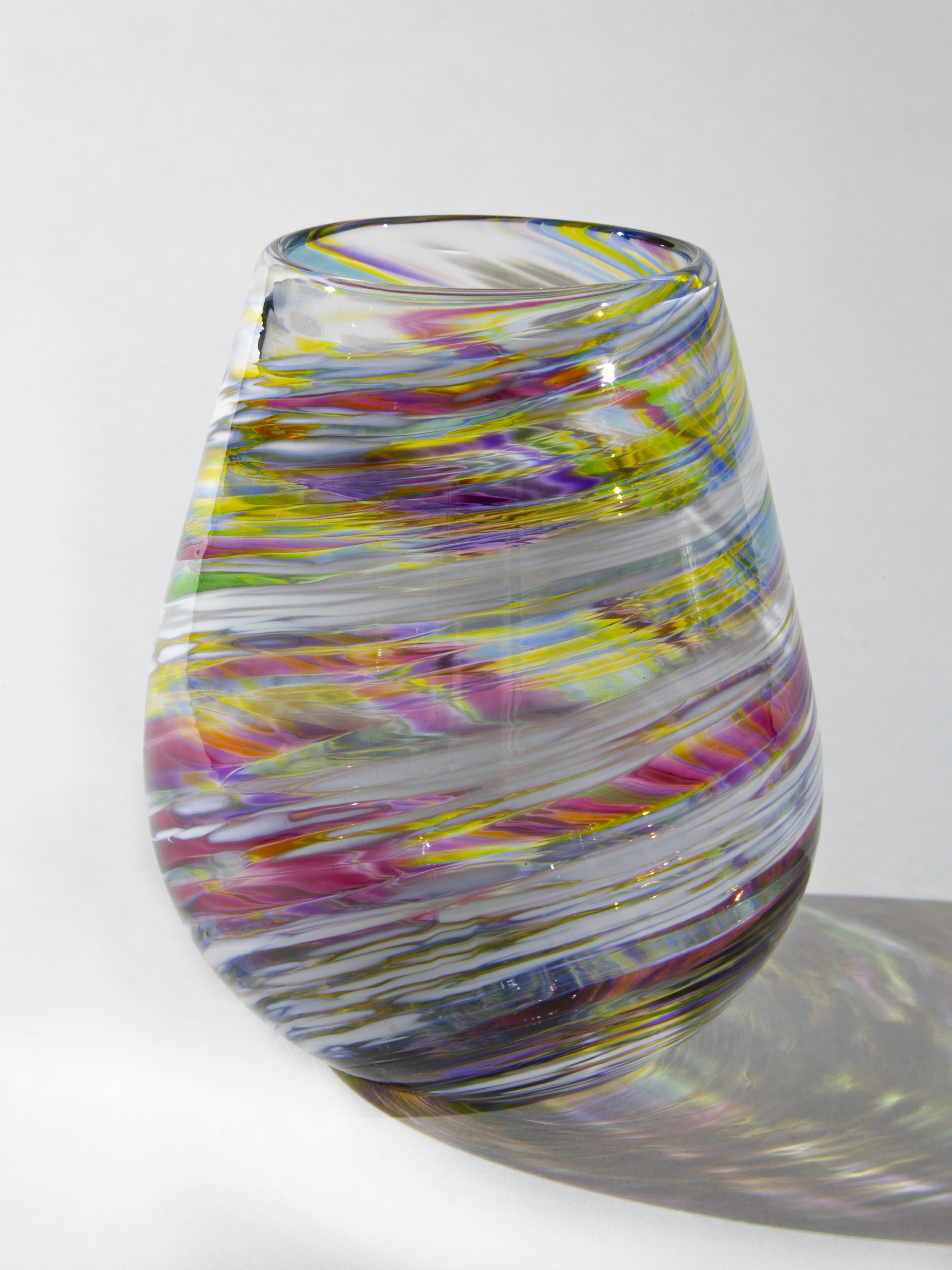 Rainbow Stemless Wine Glass