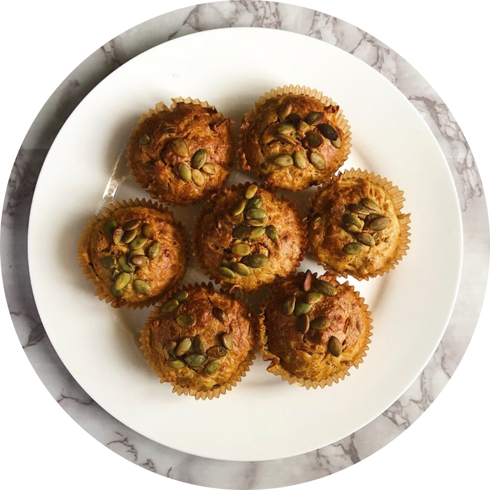 Carrot Thyme and Feta Muffins