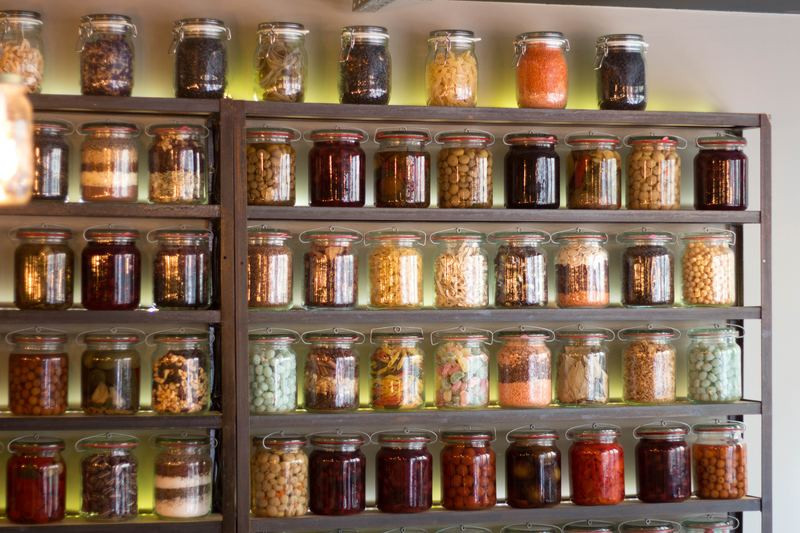 Pantry filled with Jars of Ingrediants