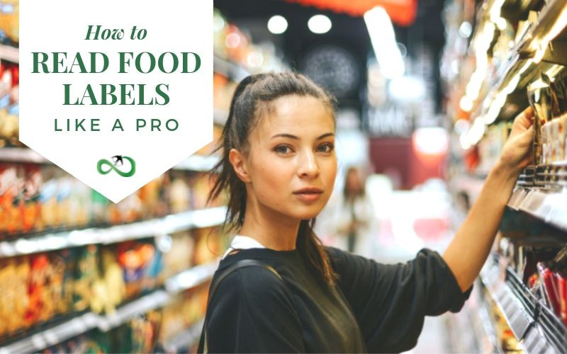 Girl in supermarket with food