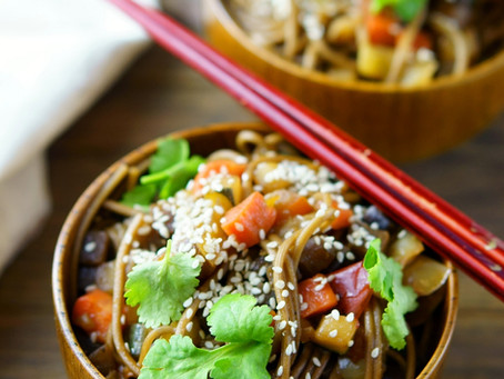 Asian buckwheat noodles