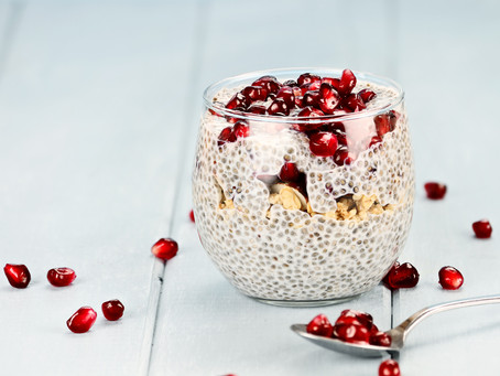 Chia pomegranate pudding
