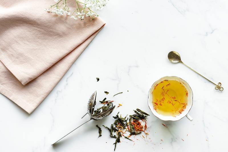 Herbal Tea on a Table