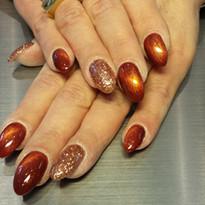 20171218_115751.Combinatie brons- glitter- en bronss cat eye gel