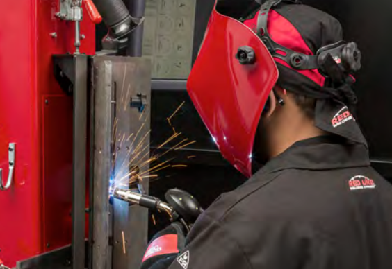 welding student working on their skilled trade