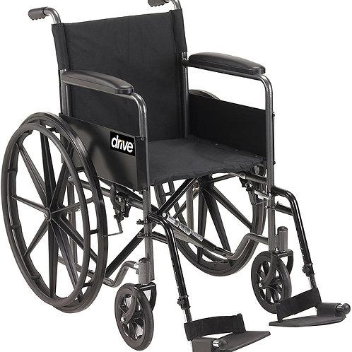 Drive Medical SSP118FA-SF Silver Sport 1 Wheelchair Black