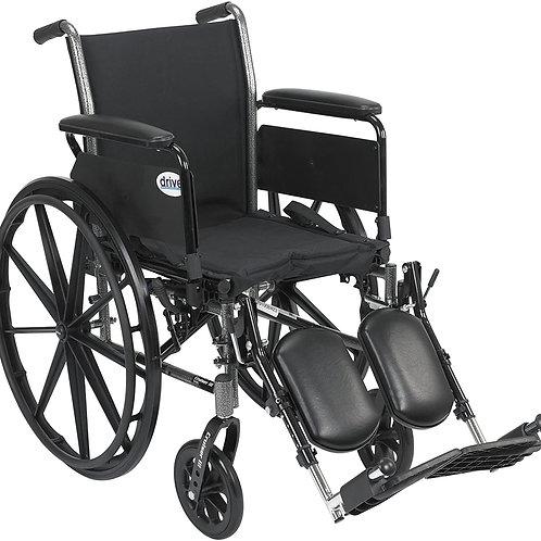 Drive Medical K320DFA-ELR Cruiser III Light Weight Wheelchair Black, 20 Inch