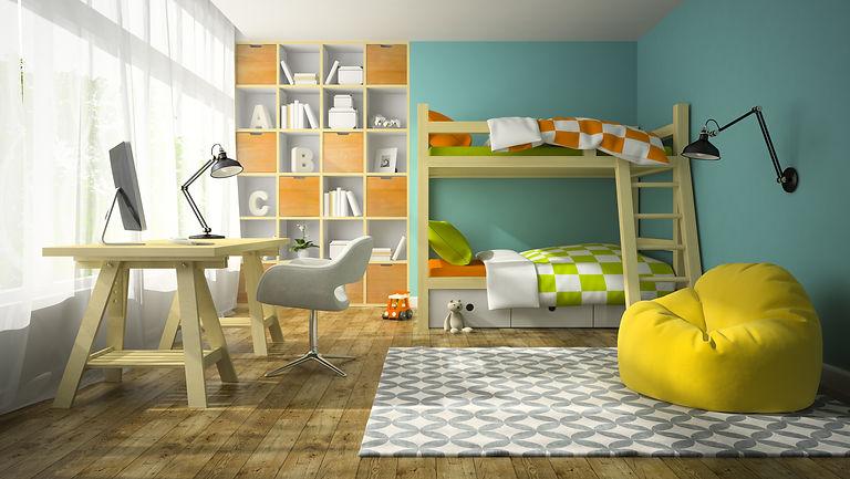 interior-of-children-room-with-bunk-bed-