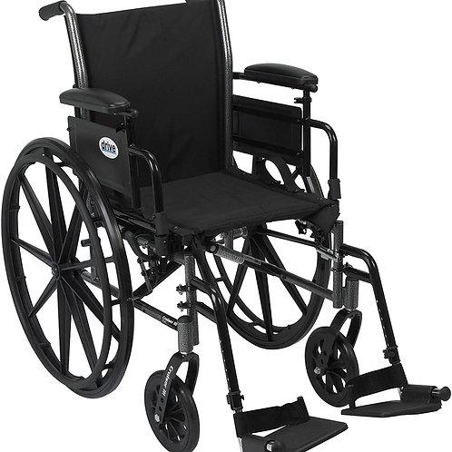 "Drive Medical Cruiser III Light Weight Wheelchair Black, 18"" (K318ADDA-SF)"