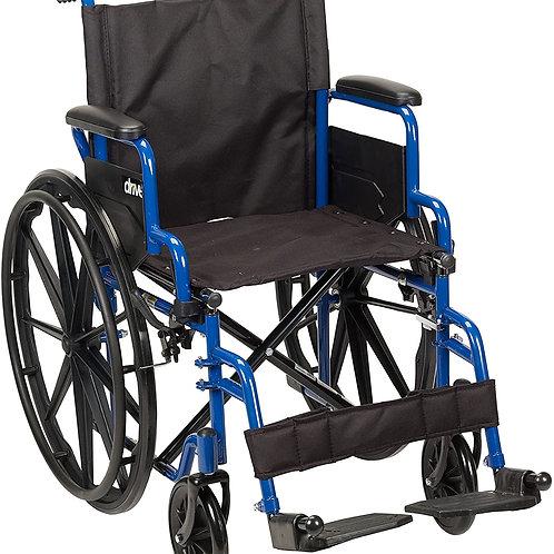 Drive Medical Blue Streak Wheelchair 18 Inch Seat