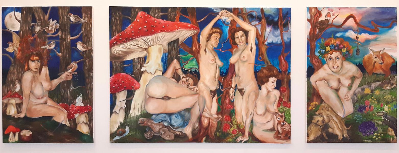 Aphrodite und die Chariten (Peitho, die drei Grazien, Flora