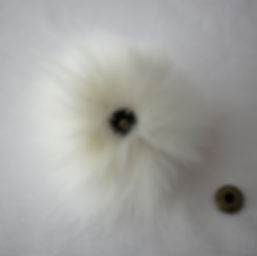 Pompom with snap - white (2)