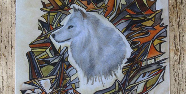 Spirit - Wolf Greeting Card