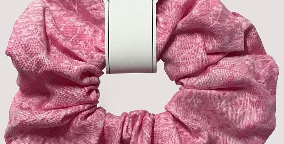 Hand made Pink floral Hair Scrunchie
