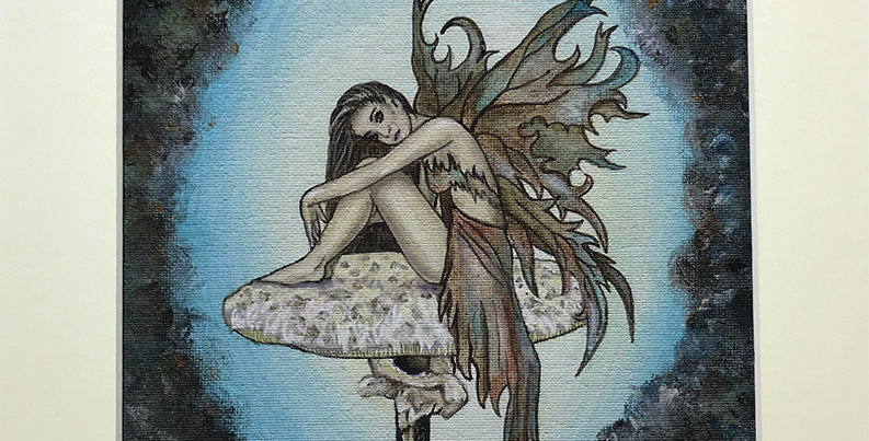 "Woodland Fairy print mounted 8 x 10"""