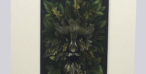 The Green Man ACEO print