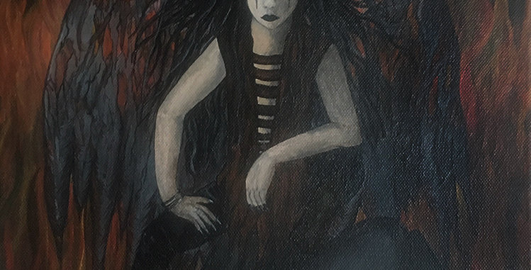 Fallen ~ acrylic painting