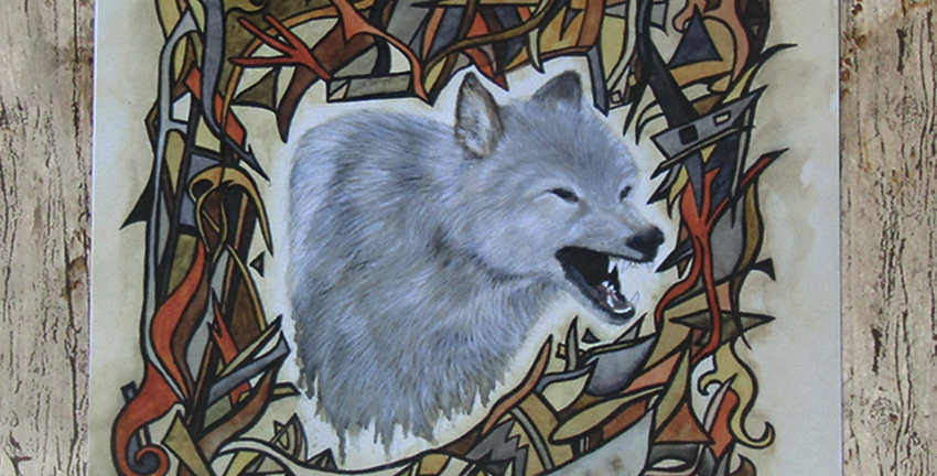 Guardian - Wolf Greeting Card