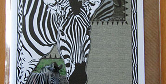 Zebra Greeting Card - With Love