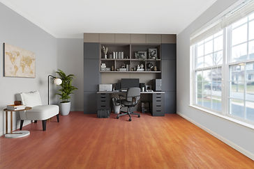 virtual staging before and after example of virtually staged home office designer furniture