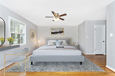 virtual staging bedroom set before and after virtually staged image